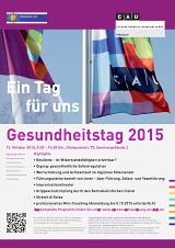 Flyer Gesundheitstag 2015