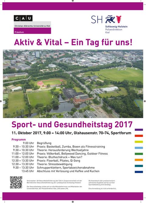 Plakat Gesundheitstag 2017