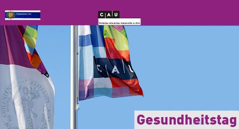 Das Bild zeigt Flaggen der Christian-Albrechts-Universität zu Kiel